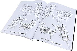 B Baosity 40 Seiten Tattoo Vorlagen Buch Blumen Muster Tatto