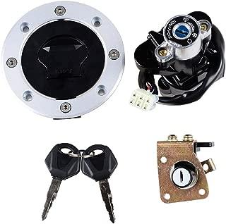 Set Ignition Switch + Gas Fuel Tank Cap + Seat Lock + Keys Fit Suzuki GSXR600 750 GSX750 600 1200 TL1000R TL1000S (Selected)