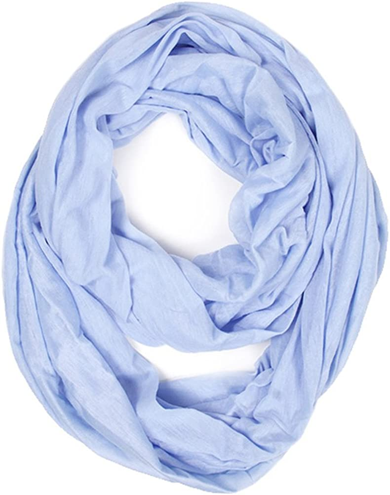 ScarvesMe Pop Fashion Super Soft Light Weight Jersey Solid Color Soft Infinity Scarf