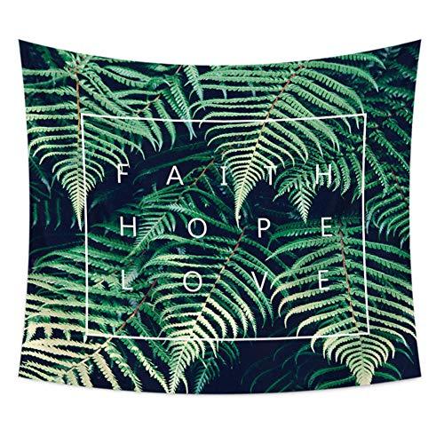 Wandtapijten Wandhangers Groen Milieubescherming Plant Afdrukken Polyester Fiber Tapestry Muur Schilderen Wanddeken Woonkamer Slaapkamer Decoratie Doek