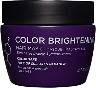 Luseta Color Brightening Hair Mask, Deep Conditioner - Biotin, Hydrolyzed Collagen & Keratin - Neutralizes Unwanted Yellow...