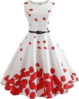 Pingtr 2019 Latest Style Swing Dress - Xmas Gift, 30s 40s 50s 60s Vintage Dress,Audrey Hepburn Style Evening Party Rockabi...