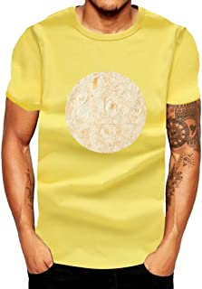WILLTOO❤️❤️ Summer Men T-Shirt, Mexican Cake Printed Short Sleeves Fashion Comfort Blouse