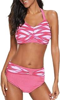 Women High Waist Bikini Set Halter Bathing Suits Two Pieces Swimsuit