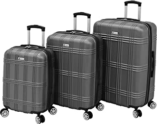 London Fog Kingsbury 3 Piece Spinner Luggage Set, Titanium