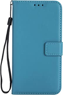 Case iPhone XR XS iPhone 8 7 6 6s Plus 5 5s 5C 4 Card Slot Cases Strap,Sky Blue,8 Plus