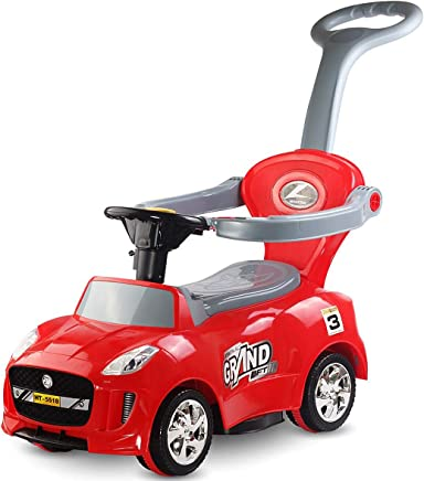Costzon 3 in 1 Electric Ride On Push Car, Battery Powered Indoor Outdoor Toddler Play