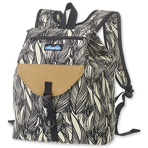 KAVU Satchel Pack Rucksack Travel, Hiking Backpack - Ink Leaf