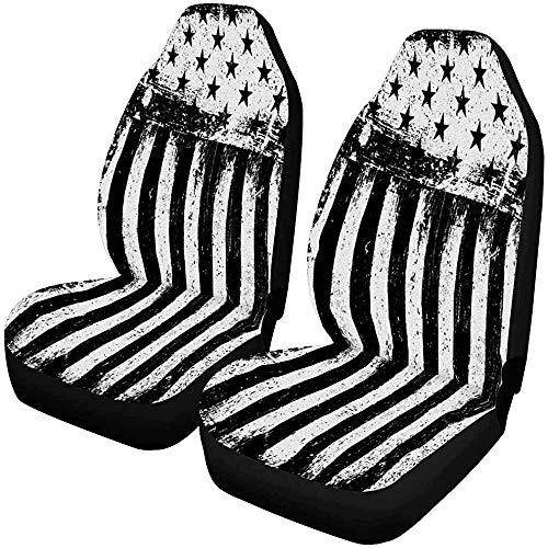 Fall Ing voorstoelhoezen met Amerikaanse vlag sterren en strepen, zitkussen voor voorstoelen