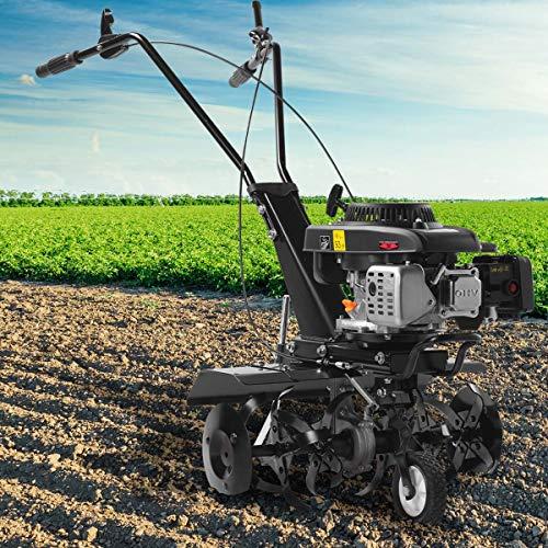 BRAST Benzin Ackerfräse 4,4kW(6PS) Radantrieb Motorhacke Gartenfräse Bodenfräse Kultivator 2 Arbeitsbreiten 36cm/60cm