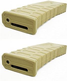 Airsoft Shooting Gear APS 2pcs Hi-Cap U Mag Magazine for FMR/ASR/UAR/M-Series AEG Brown Tan