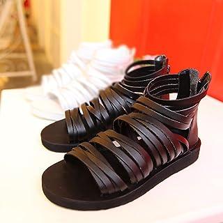 246a3ba3b ZJM-sandalia de Gladiador de Hombre Diseño de Cremallera Creativa de  Zapatillas de Verano (