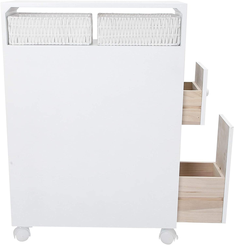 Kadimendium Four Sale SALE% OFF Casters 2021 model Toilet 19.7x28.3x6.3in Locker Sim White