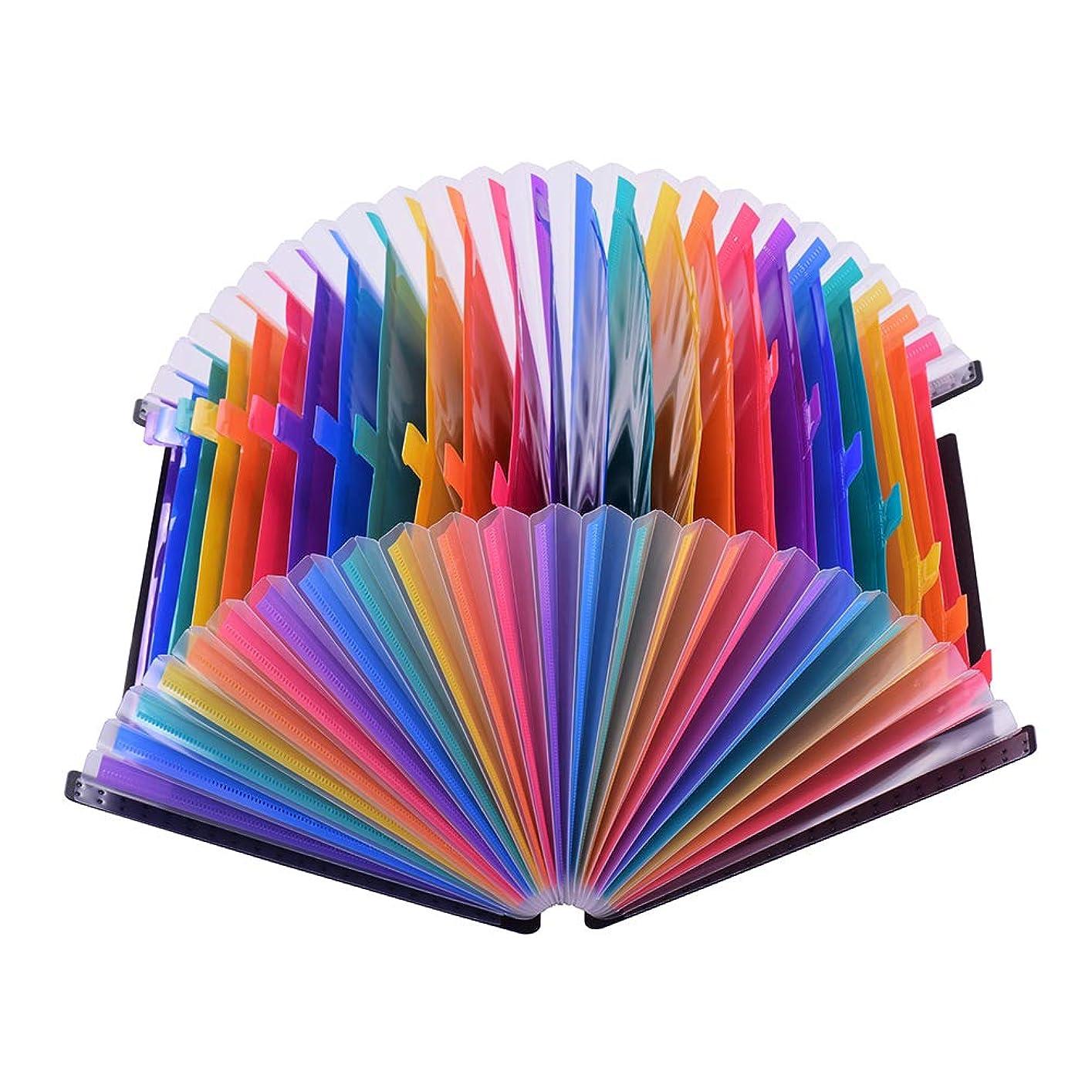 パパ憤るグラムAibecy Aibecy 24ポケットファイルフォルダオーガナイザー拡張ファイルフォルダレインボーカラーアコーディオンA4サイズのファイルガイドとペーパー/ビジネス/スタディ/ホーム用