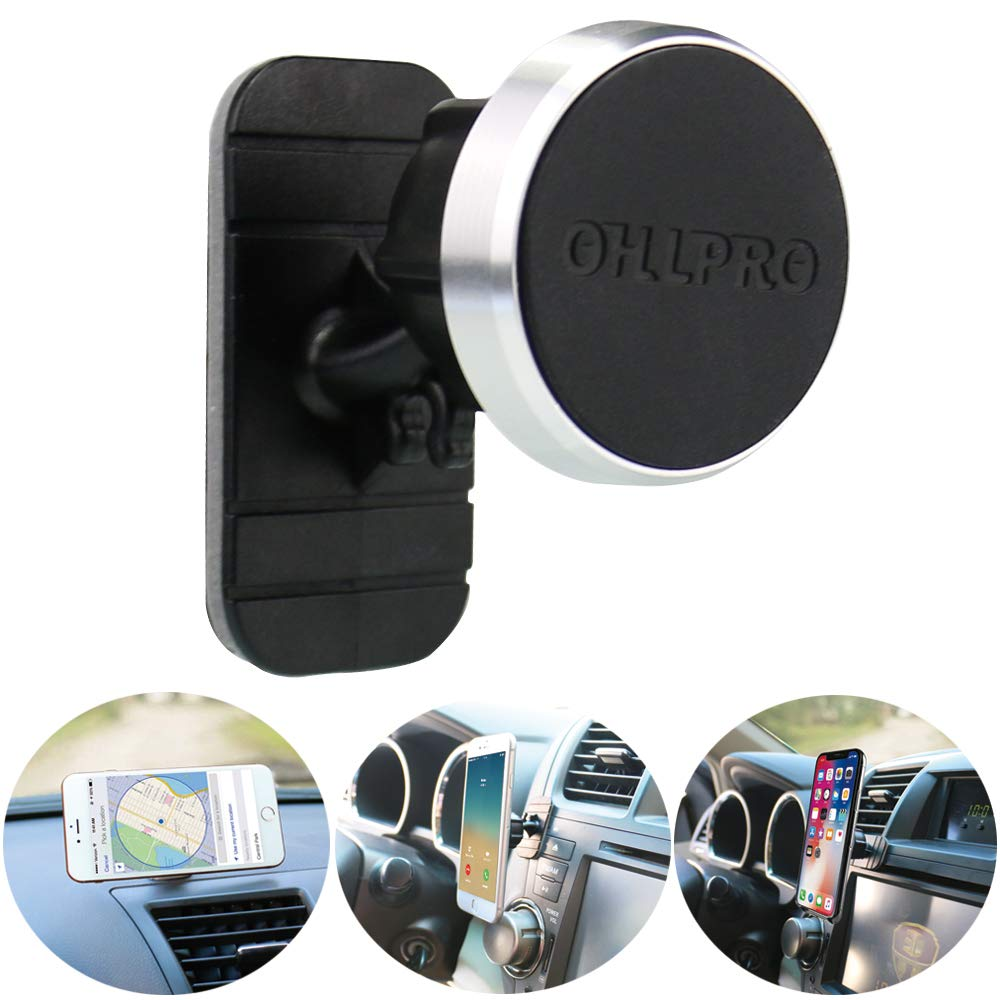 Strong Adhesive /& Sturdy Creative Bracket For Tablet PC Lomalson Cellphone Mount 360 Degrees Rotating Cell Phone Holder New Vehicle Mounted Magnetic Stand Leaves No Marks