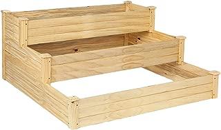 VINGLI Upgraded Heavy Duty Raised Garden Bed Kit, 3 Tier Pine Wood Elevated Planter for Vegetables Fruits Potato Onion Flower, OutdoorSturdy Long LastingPlanter Box Kit (48