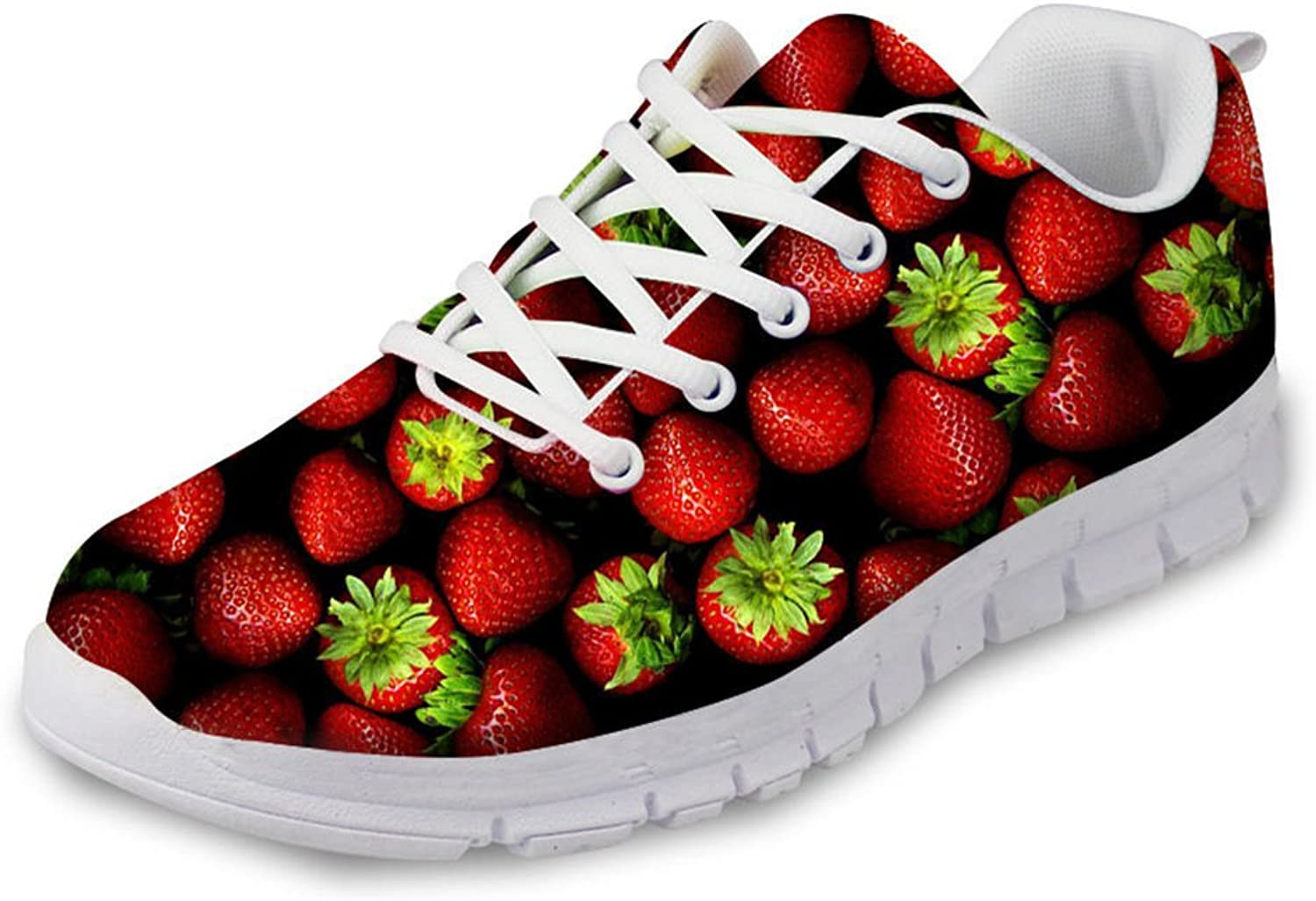 Advocator Fashion Cute Fruits orange Print Walking Sneaker Running shoes for Women