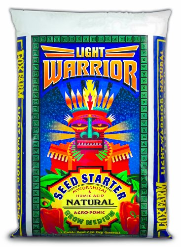 Hydrofarm FX14023 Light Warrior Soilless Mix, 1-Cubic Feet, Brown
