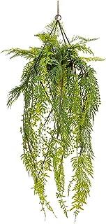 PAKUES-QO Plantes Artificielles Plantes Suspendues Artificielles Ivy Vine Fausses Feuilles Greeny Chain Wall for Home Room...