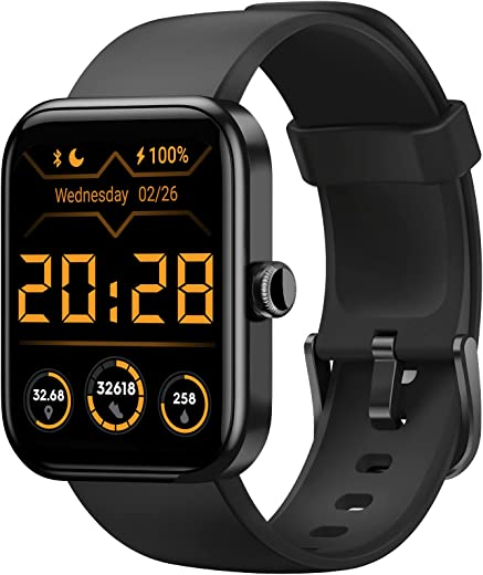 HAFURY Smart Watch, Alexa & Microphone Built-In, 10-Day Battery, 1.69″Display Fitness Tracker, Blood Oxygen, Heart Rate, Sleep, Stress Monitor,…