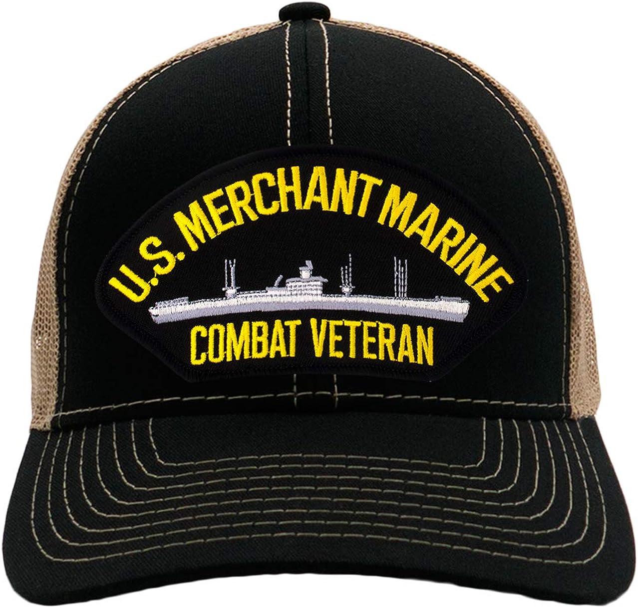 PATCHTOWN US Merchant Marine Combat Veteran Hat//Ballcap Adjustable One Size Fits Most