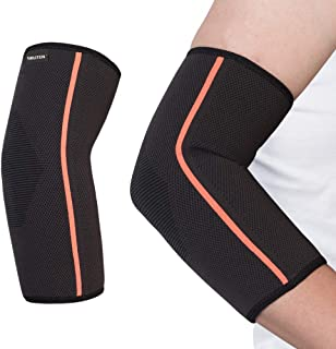 SGUTEN Elbow Brace Compression Support Sleeve,Elbow Sleeve Tendonitis(Pair) for Running,Crossfit,Basketball,Weightlifting,Gym etc,Arthritis Pain Relief and Injury Recovery for Men&Women.