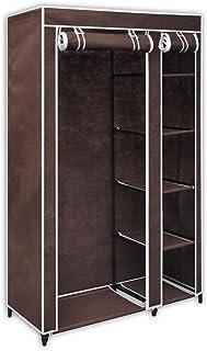 Shengtaieushop Armoire en tissu Marron Chiffon Cabinet
