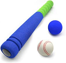 CeleMoon [Mini Size] Super Safe Kids Foam 16.5 inch Baseball Bat Toys with 2 Balls for Children Age 1 2 3 yrs Old, Portable Carrying Bag Included, Blue