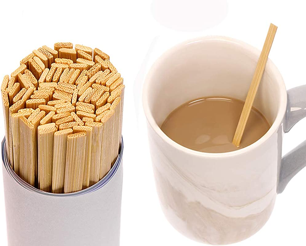 Mini Skater 5 4 Inch Bamboo Coffee Stirrers Eco Friendly Biodegradable Stir Sticks For Tea Hot Cold Beverages 100