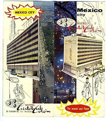 Hotel Cristobal Colon Brochure Year-end gift Mexico 1960's City Sale price