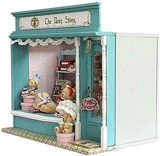XYZMDJ Handgjort dockor miniatyr, gör-det-själv-kit, baby björn fairy Fales serie trädockhus med möbler