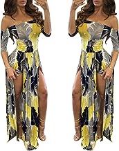 Romper Split Maxi Dress High Elasticity Floral Print Short Jumpsuit Overlay Skirt for Summmer Party Beach S-5X