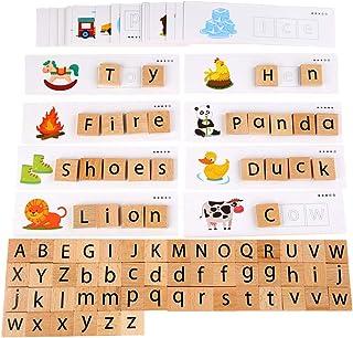 Tomaibaby 1 Set Leren Flash-Kaarten Houten Abc Sorteren Blokletters Alfabet Matching Game Voor Peuters Vroeg Leren Speelgoed