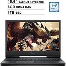 2019 Dell G5 15 5590 15.6 Inch FHD Gaming Laptop (9th Gen Intel 6-Core i7-9750H up to 4.50 GHz, 8GB DDR4 RAM, 1TB SSD, NVIDIA GeForce GTX 1660 Ti, RGB Backlit Keyboard, Windows 10) (Black)