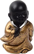 Baoblaze Resin Buddha Statue Little Monk Figurine Ornament Decorations for Meditation - Style04, as described
