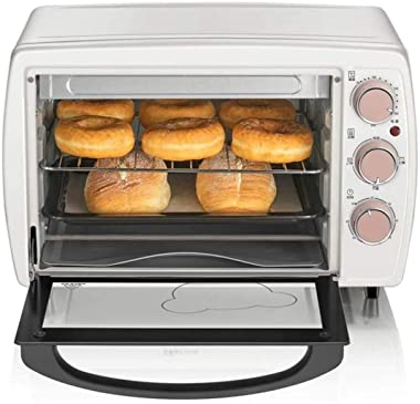 Rindasr Countertop microwave,Multifunction Electric Oven 20L Automatic Cake Pizza Baking Oven Furnace Machine Baker Household