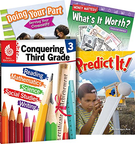 Conquering Third Grade, 4-Book Set – Fun Practice Workbook and 3 Reading Books for Kids Ages 7-9 to Prepare for 3rd Grade