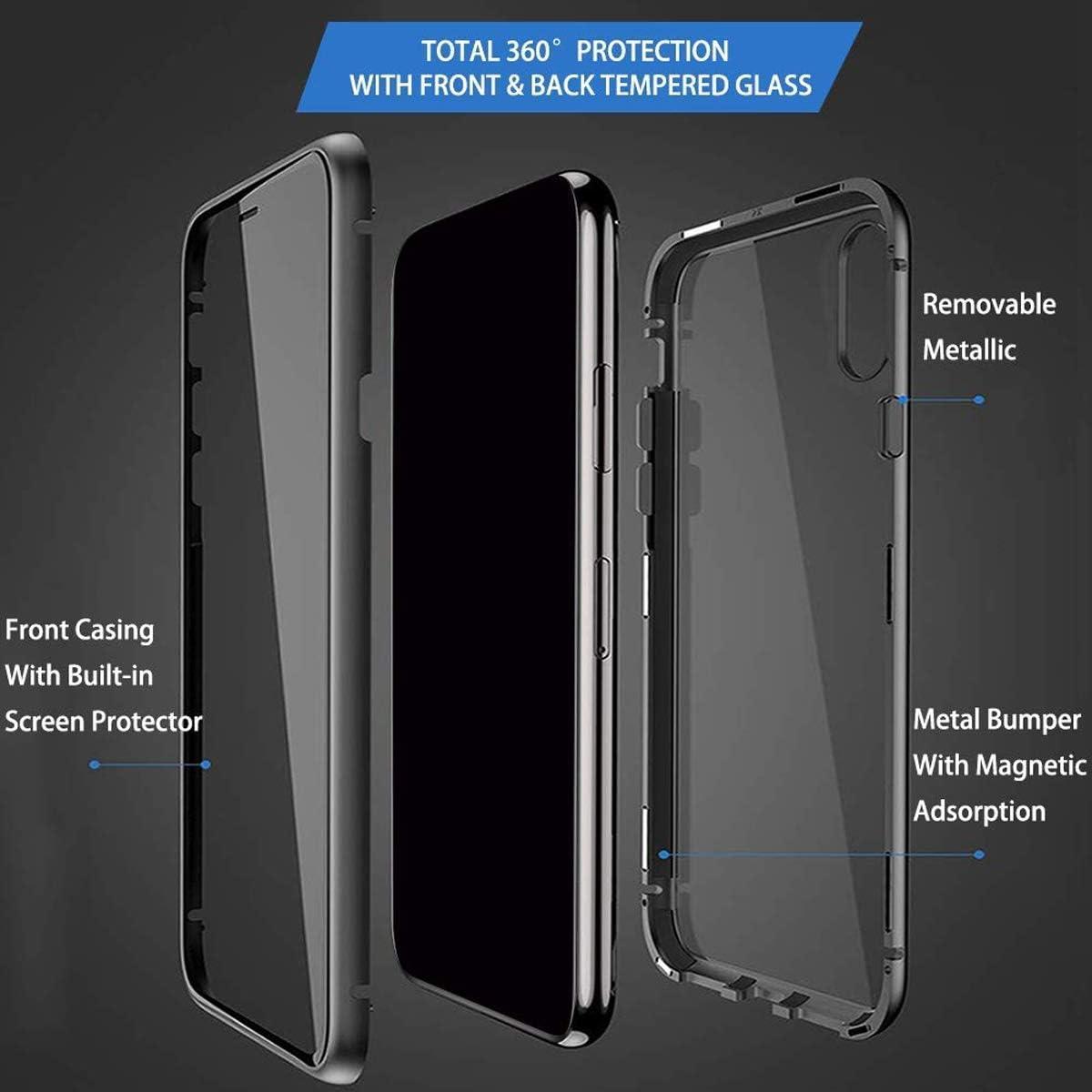 Funda para Samsung Galaxy S20 FE 5G// Samsung S20 Lite Carcasa Adsorci/ón Magn/ética Parachoques de Metal con 360 Grados Protecci/ón Case Transparente Ambos Lados Vidrio Templado Cubierta Cover Plata