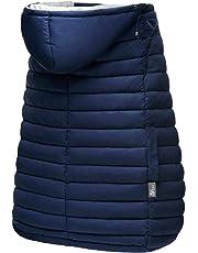 5Star 抱っこ紐ケープ 抱っこひもカバー 優れた撥水性 防寒 ケープ ベビーカー対応 保温性抜群 ベビーホッパー 収納袋付 取り付け簡単 日本語説明書付 (ネイビー)