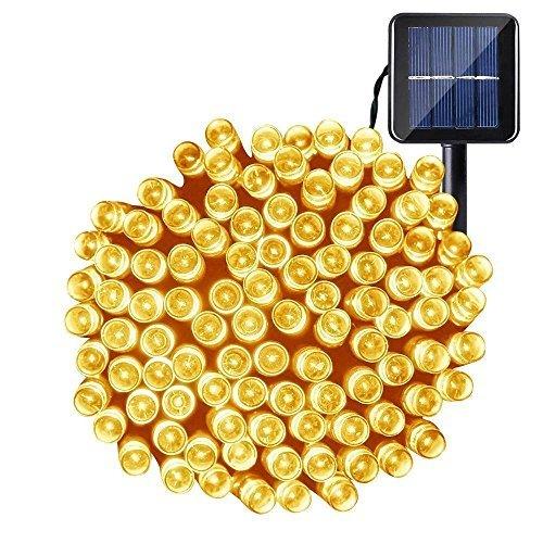 Solar Lichterkette,OxyLED 72ft 200 LED imprägniern Innen/Lichter im Freien,angetriebene Dekoration-Solarlichter für Garten,Patio,Yard,Haus,Hochzeit,Partei,Weihnachten,warmes Weiß [Energy Class A ++]