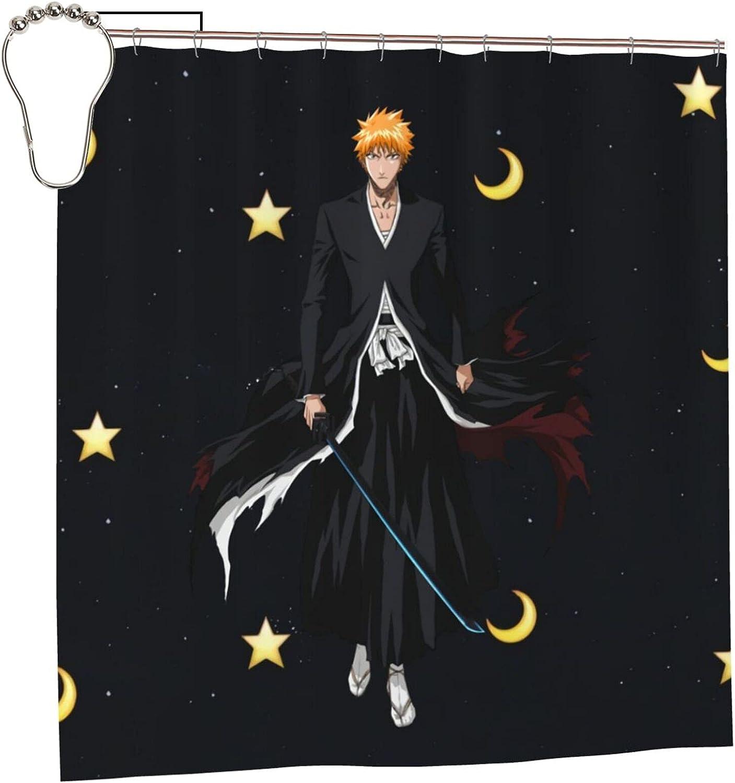Dealing full price reduction Bleach Ichigo Los Angeles Mall Anime Bathroom Shower Curtain X Liner 72