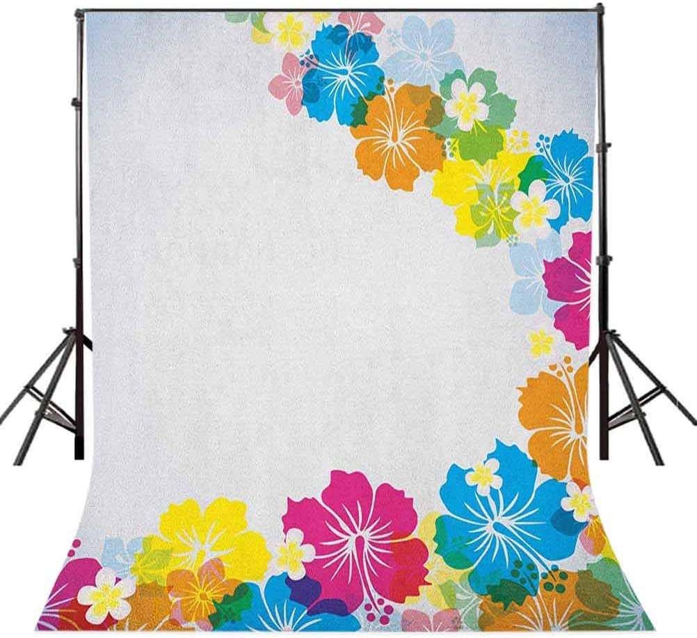 8x12 FT Floral Vinyl Photography Backdrop,Lily Bouquet Pattern Blossoming Illustration with Vintage Inspirations Background for Party Home Decor Outdoorsy Theme Shoot Props