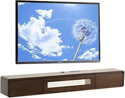 47.2 Inch TV Stand Set-top Box, Wooden Floating TV Cabinet, Entertainment Center Console, Suitable for Living Room/Bedroom/Corridor (Color : B)