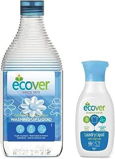 エコベール 食器用洗剤 カモミール 450mL 洗濯用洗剤ミニボトル付き