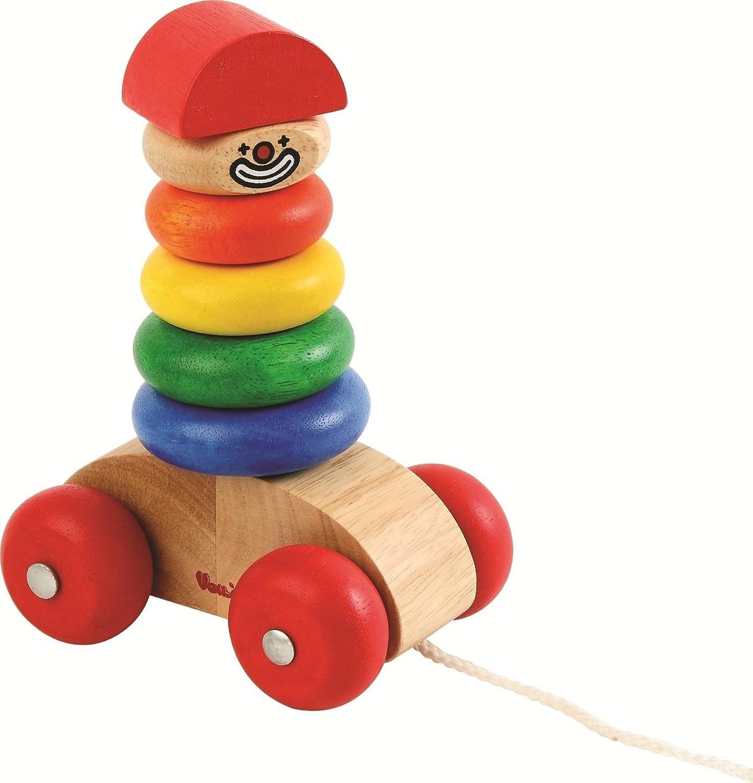 Mr. Mover 8-teilig   Steck-Clown aus Holz   Gewicht  450 g   Mae  ca. 120 x 80 x 170 mm   für Kinder ab 2 Jahren geeignet
