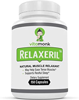 Relaxeril™ Best All-Natural Muscle Relaxer - Complete Formula for Lasting Leg Cramp, Soreness, Back Spasm, and Tension Rel...