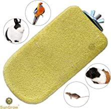 SunGrow Lava Ledge for Birds, Yellow Mineral Block, Rock Perch for Chinchillas, Rabbits, Hamsters and Parrots, Easy Installation