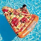 ZXL Aufblasbare Schwimmschwimmer, aufblasbare Pizzaschnitte Wassersportartikel Schwimmschwimmmatte 175 × 145CM