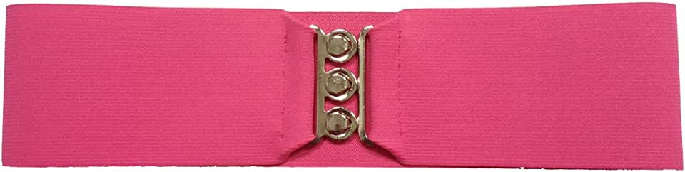 "1950s Style 3"" Wide Elastic Cinch Belt for Women Junior and Plus Sizes"