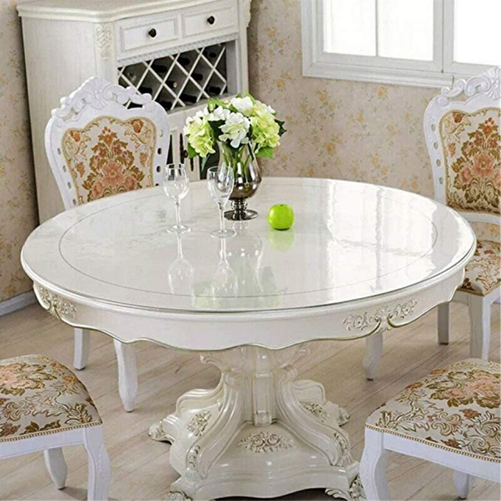 Buy Eralove Round 9 Inch Clear PVC Table Cover Protector Vinyl ...